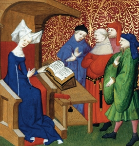 Christine de Pizan, one of the first chroniclers of women's writing