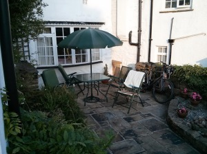 Our sheltered terrace