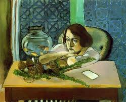 Matisse woman with goldfish