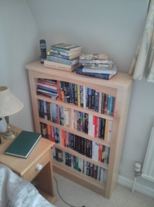 New bookcase #1: crime, non-fiction and recent acquisitions.